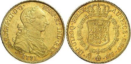 monedas de oro mexicanas antiguas