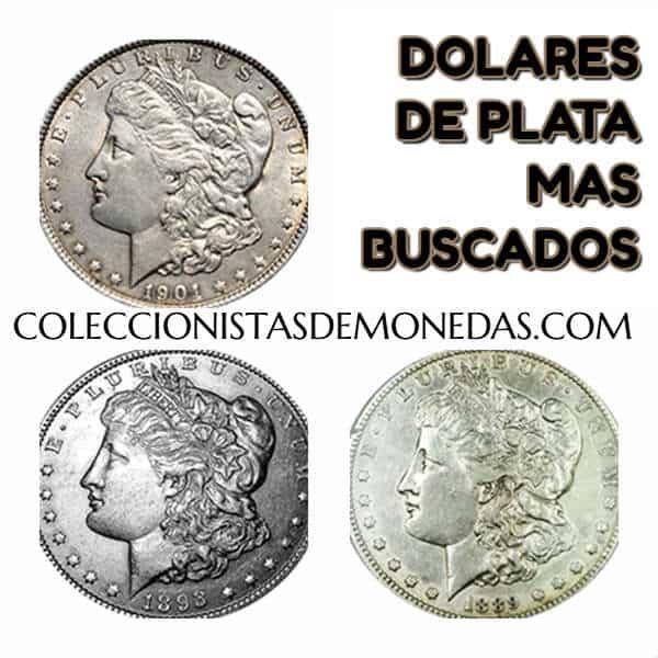 monedas antiguas de Estados Unidos de plata