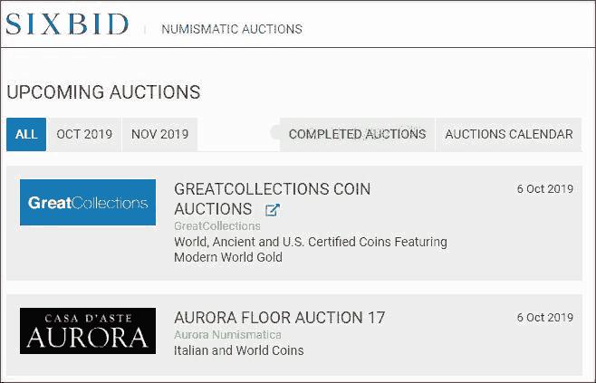 donde se venden monedas de coleccion