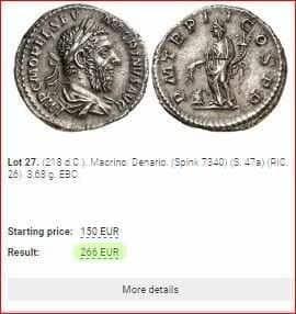valor de monedas antiguas de plata