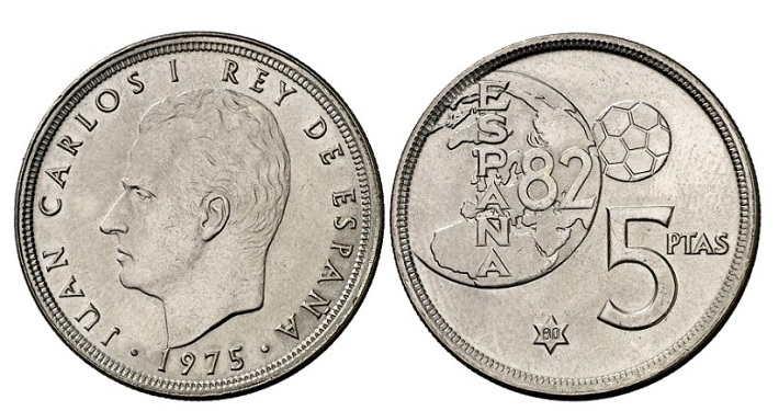 5 pesetas mundial