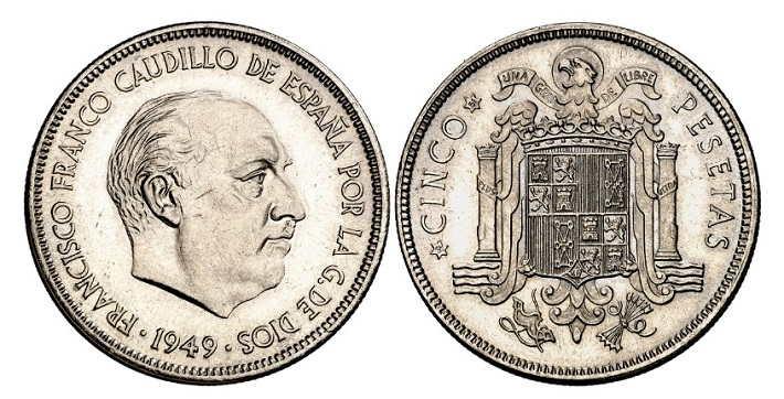 5 pesetas 1949