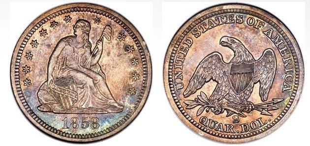 1858S-moneda-de-25-centavos-estados-unidos