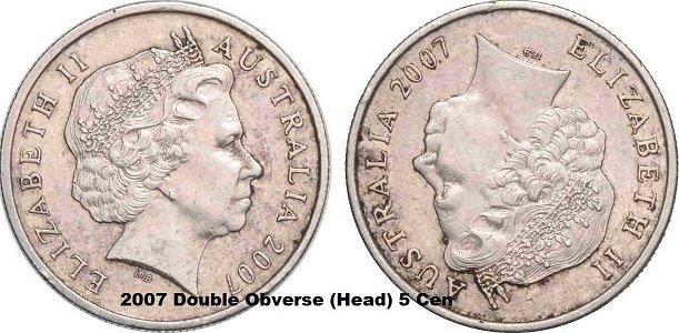 australian-rare-coins-list-Double-Obverse-5-Cent