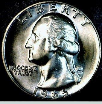 Washington quarter dollar 1965 SMS obverse