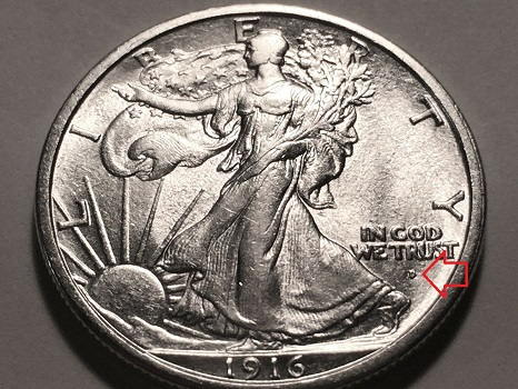 ebay silver coins-Walking Liberty 1916 D