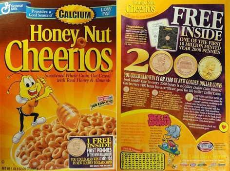 sacagawea coin 2000 cheerios promo