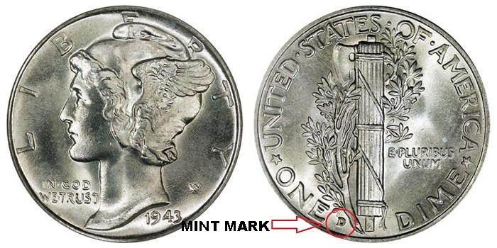 silver coins collection-mercury-dime