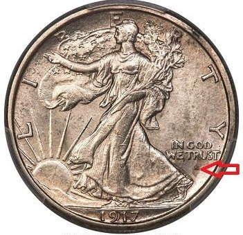 silver coins lot-Walking Liberty mint obverse