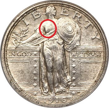 silver coins us mint-Standing liberty 1916 obverse