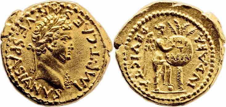 roman coins gold-TitusAureus