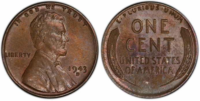1943 copper penny 1.7 million