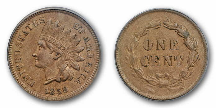 Indian Head 1859 value