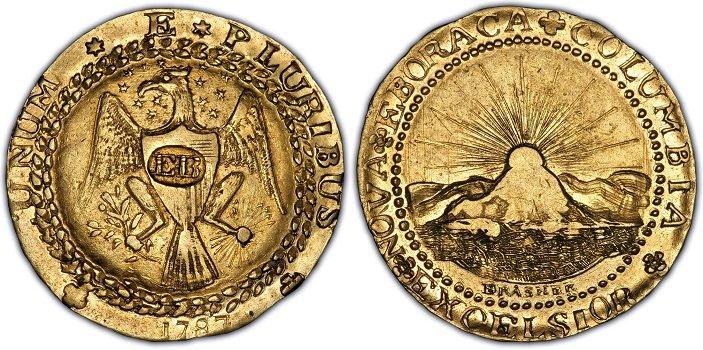 1787 Doblon Brasher EB Bust