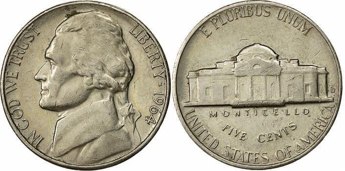 1964 Nickels value