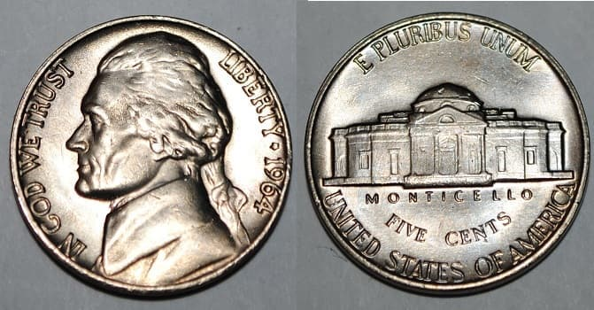 1964 value nickel