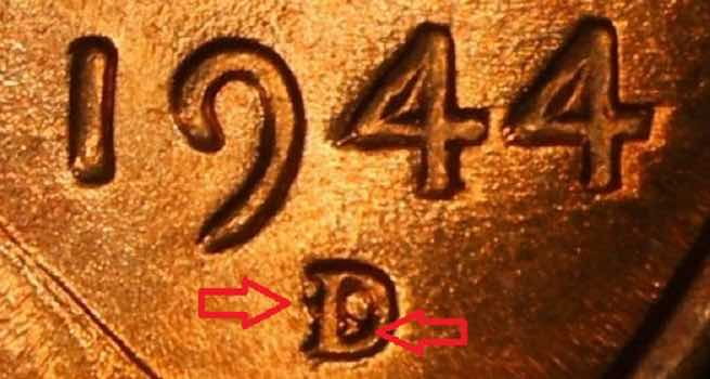 1944 wheat penny value D S zoom