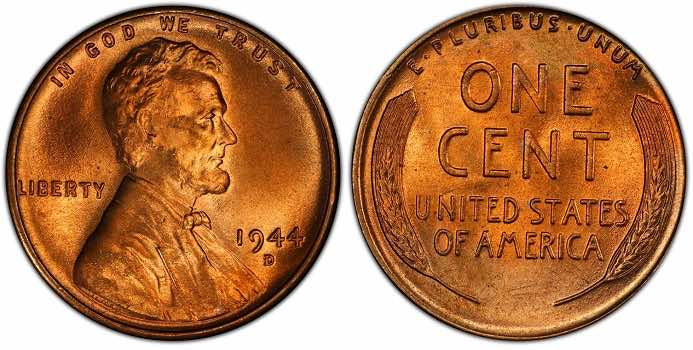 how much is a 1944 wheat penny D S worth