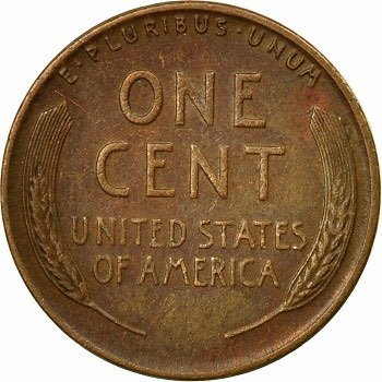 1945 wheat penny back