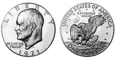 1971 Eisenhower Silver Dollar S Value