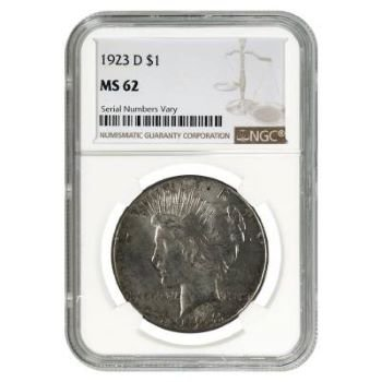 value 1923 silver dollar - capsule