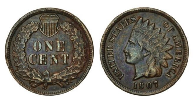1907 indian head penny value