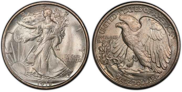 walking liberty half dollar value