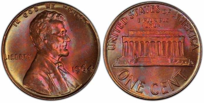 1964 d penny