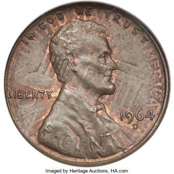 964 penny no mint mark