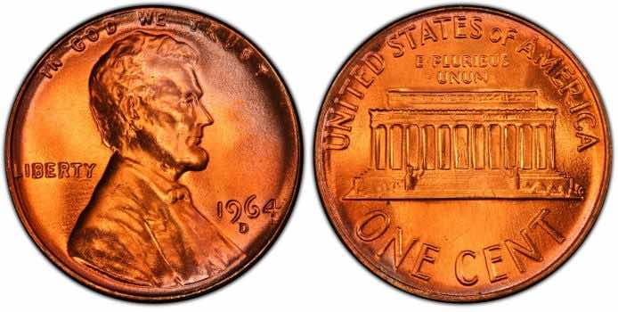 1964 penny value d