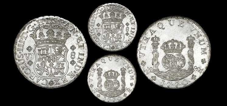 8 reales Carlos III Nuevo Reino 1770 Sedwick