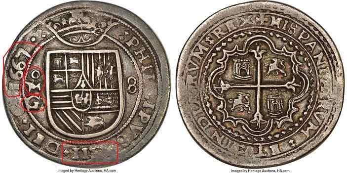 8 reales Mexico 1667 Postuma Heritage