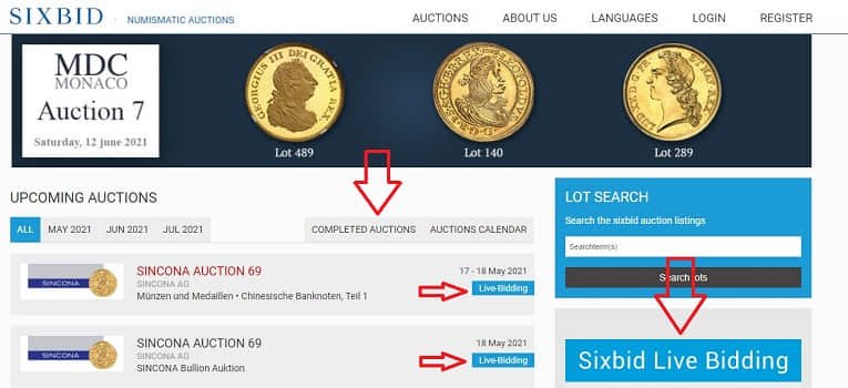 Online-Coin-Auction-Tips-Coins-sixbid