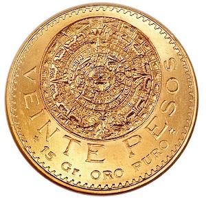 20 pesos mexicanos reverso
