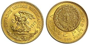 20 pesos mexicanos valor