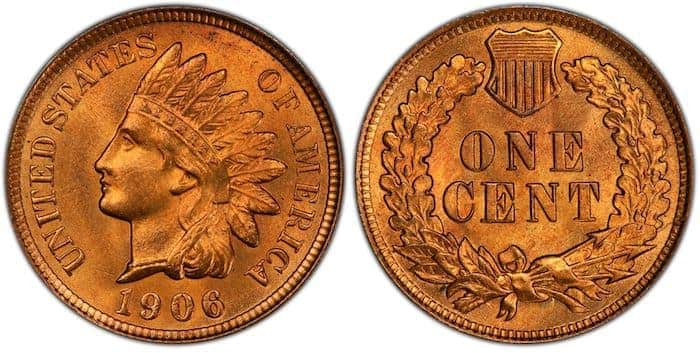 1906 RD cent value