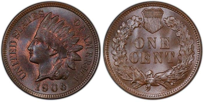 1906 indian head penny BN